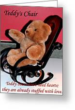 Teddy's Chair - Toy - Children Greeting Card