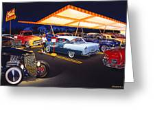 Teds Drive-in Greeting Card