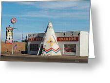 Tee Pee Curios Rt. 66 Greeting Card by Gordon Beck