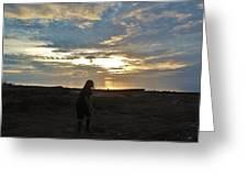Teed Up Sunset Shot 2 12/5 Greeting Card