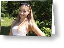 Teen Beauty Greeting Card