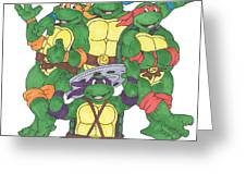 Teenage Mutant Ninja Turtles  Greeting Card by Yael Rosen