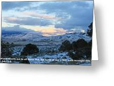Tehachapi Valley With Job Quote Greeting Card