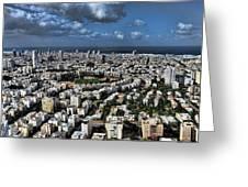 Tel Aviv Center Greeting Card by Ron Shoshani