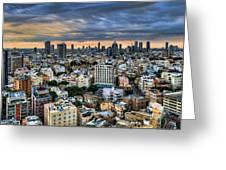 Tel Aviv City Skyline  Greeting Card