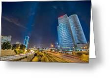 Tel Aviv Nights Greeting Card