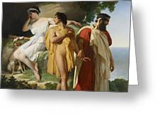 Telemachus And Eucharis Greeting Card