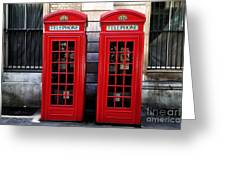 Telephone Couple Greeting Card