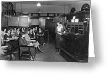Telephone Exchange, 1915 Greeting Card