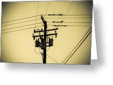 Telephone Pole 4 Greeting Card