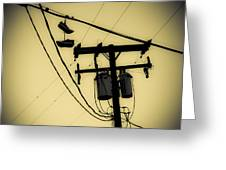 Telephone Pole And Sneakers 1 Greeting Card