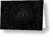 Teleport Through Green Space Greeting Card