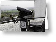 Telescope Near The Entrance Of Stirling Castle Greeting Card