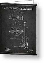 Telescope Telemeter Patent From 1916 - Charcoal Greeting Card