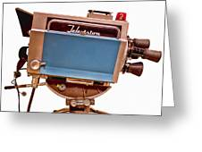 Television Studio Camera Hdr Greeting Card by Edward Fielding
