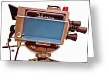 Television Studio Camera Hdr Greeting Card