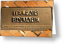 Telfair Square In Savannah Greeting Card