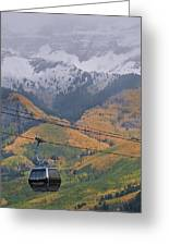 Telluride Winter Over Fall Greeting Card