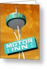 Telstar Motor Inn - Orange Greeting Card