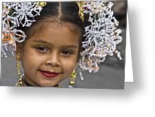 Tembleque Headdress Greeting Card