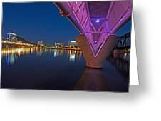 Tempe Light Rail Bridge Greeting Card
