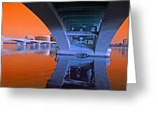 Tempe Town Lake Bridges Greeting Card