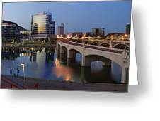 Tempe Town Lake Pano Greeting Card by Dave Dilli