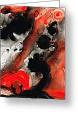 Tempest - Red And Black Painting Greeting Card