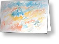 Tempest-tossed Waves Greeting Card