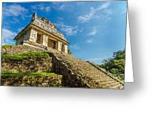 Temple And Blue Sky Greeting Card