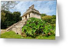 Temple And Foliage Greeting Card