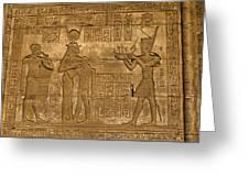 Temple At Denderah Egypt Greeting Card by Brenda Kean