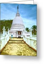 temple complex at the tropical island Sri Lanka Greeting Card by Regina Koch