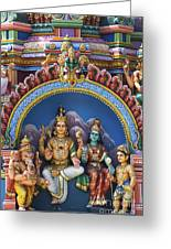 Temple Deity Statues India Greeting Card