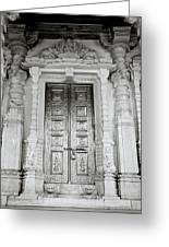 The Ancient Temple Door Greeting Card