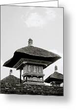 Temple In Ubud Greeting Card