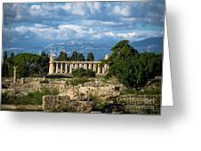 Temple Of Athena Greeting Card