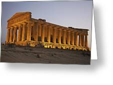 Temple Of Concordia In The Valley Of Greeting Card