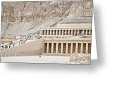 Temple Of Hatsepsut In Egypt Greeting Card