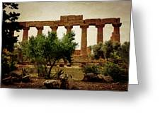 Temple Of Juno Lacinia In Agrigento Greeting Card