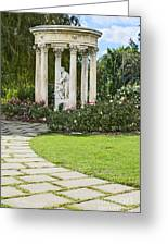 Temple Of Love Statue At The Rose Garden Of The Huntington. Greeting Card