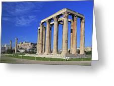Temple Of Olympian Zeus Athens Greece Greeting Card