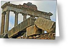 Temple Of Saturn In The Roman Forum Greeting Card
