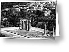 Temple Of Zeus II Greeting Card by John Rizzuto