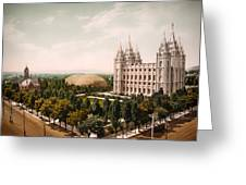 Temple Square Salt Lake City 1899 Greeting Card