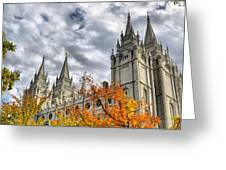 Temple Trees Greeting Card