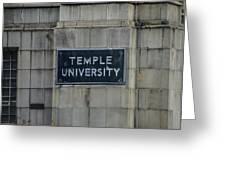 Temple U Greeting Card