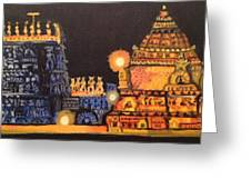 Templelights Greeting Card