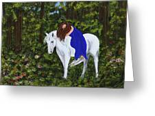 Temptress In The Forest Greeting Card