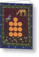 Ten Of Pentacles Greeting Card